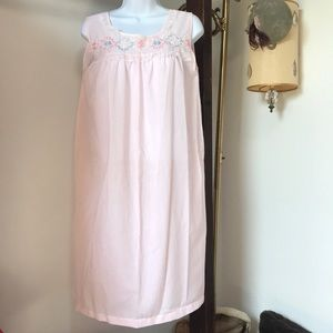 Vintage Embroidered Farmhouse Pink Nightgown